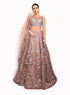Mauve Contemporary Lengha BW116