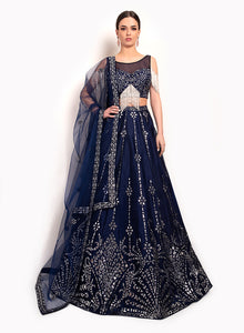sonascouture - Navy Contemporary Lengha BW119