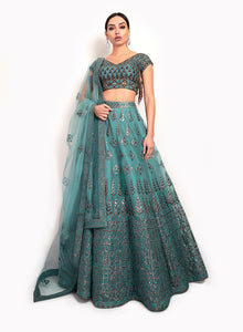 sonascouture - Unique Teal Lengha BW120