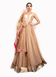 sonascouture - Sleeveless Caramel Gown GW022