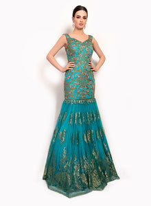 sonascouture - Lace Boat Neck Gown GW026