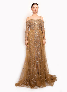 sonascouture - Rich Gold Trail Gown GW029