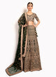 sonascouture - Ornate Bottle Green Lengha BW142