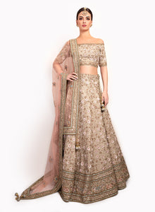 sonascouture - Gorgeous Pale Green And Dusty Pink Lengha BW144
