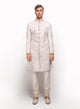 sonascouture - Printed Sherwani Highlighted With Baby Pink Threadwork MM004