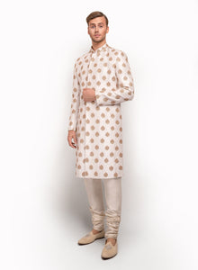 sonascouture - Raw Silk Sherwani Detailed With Motifs Throughout MM008