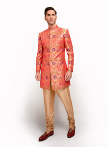 sonascouture - Multi-Toned Brocade Indo Western MM009