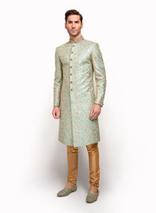 sonascouture - Fully Detailed Sherwani Including Dark Ivory Thread MM015