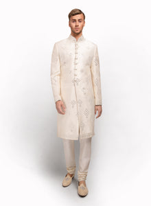 sonascouture - Raw Silk Sherwani MM022