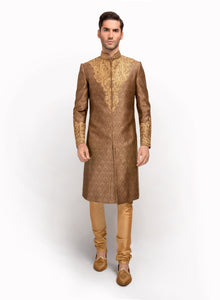 sonascouture - Regal Look Silk Brocade Sherwani MM030