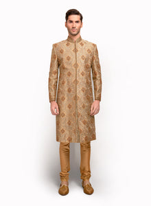 sonascouture - Ornate Silk Brocade Sherwani MM032