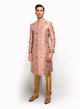 sonascouture - Silk Brocade Sherwani With Gold Detail MM035