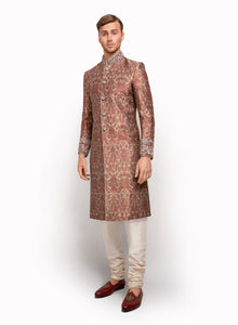 sonascouture - Silk Brocade Detailed Sherwani MM040