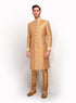 Printed Sherwani With Ivory Threadwork MM058