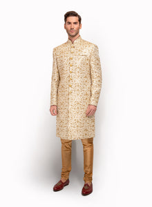 sonascouture - Gold Brocade Sherwani MM060