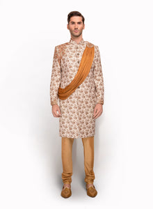 sonascouture - Ornate Floral Print Sherwani MM062