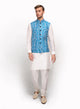 sonascouture - Raw Silk Waistcoat With White Stitch Embroidery MM087