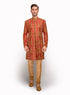 Fully Detailed Raw Silk Indo Western MM089