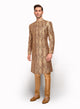 sonascouture - Wine Brocade Sherwani MM102