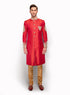 Self Print Brocade Sherwani MM111