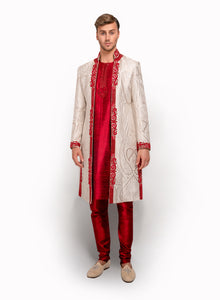 sonascouture - Open Cut Sherwani MM115