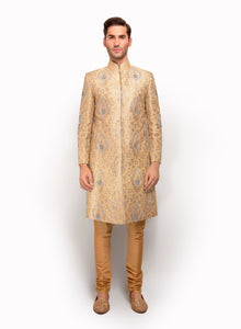 sonascouture - Gold Brocade Sherwani MM116