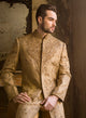 sonascouture - Classic Antique Gold Sherwani M292