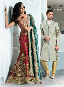 sonascouture - Light Grey Sherwani M301