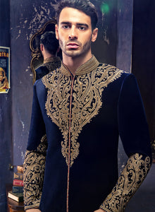 sonascouture - Royal Blue Sherwani M315
