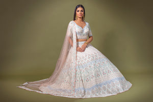 White Threadwork Bridal W395