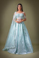 Aqua Mint Contemporary Lengha W396