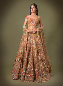 Caramel Off Shoulder Bridal W407