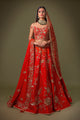 Red Boatneck Bridal W401
