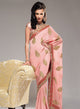 sonascouture - Salmon Pink/Red Pearl Saree W148