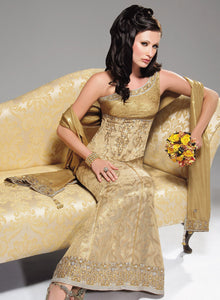 sonascouture - Antique Gold One Shoulder Outfit W149