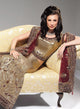 sonascouture - Shimmer Antique Gold And Aubergine Bridal W150A