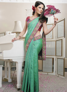 sonascouture - Peacock Silk Saree W161
