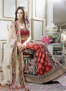 Outstanding Bridal Lengha W164 - Sonas Haute Couture