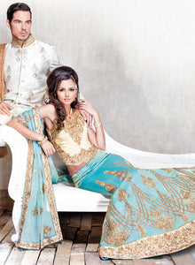 sonascouture - Gold and Turquoise Bridal W173