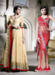 sonascouture - Gold Anarkali And Red Bridal Concept Sari W187