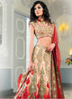 sonascouture - Exclusive Peach and Red Bridal W198