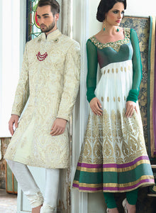 sonascouture - Charming Emerald Anarkali W267