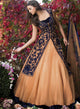 sonascouture - Peach And Navy Lengha W277