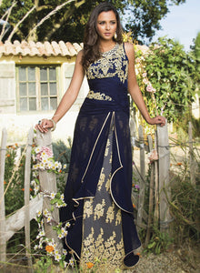 sonascouture - Navy Lace Gown W278