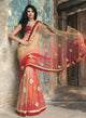 sonascouture - Elegant Red And Gold Shaded Concept Saree W279