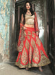 Classic Rust And Red Bridal W282 - Sonas Haute Couture