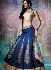sonascouture - Navy Gold Peach Bridal W288