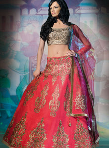 sonascouture - Pink And Gold Lengha W290