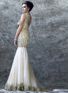 sonascouture - Elegant Ivory Lace Gown W294