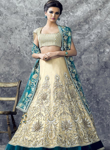 sonascouture - Gold And Turquoise Bridal W298